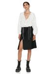 Black Asymmetrical Wool Skirt