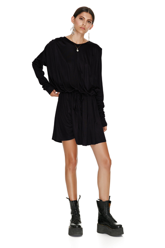 Black Viscose Dress - PNK Casual