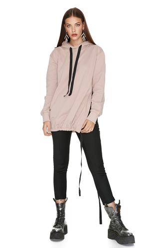 Oversize Beige Sweatshirt - PNK Casual
