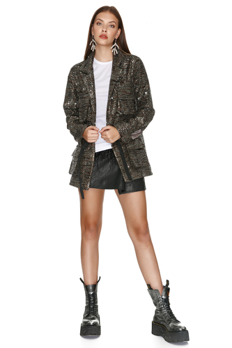 Kaki Sequin Jacket - PNK Casual