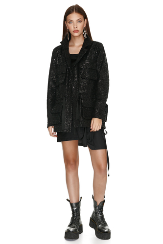 Black Sequin Jacket - PNK Casual