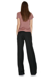 Black Wide-Leg Wool Pants
