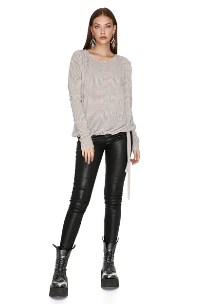 Skinny Black Leather Pants