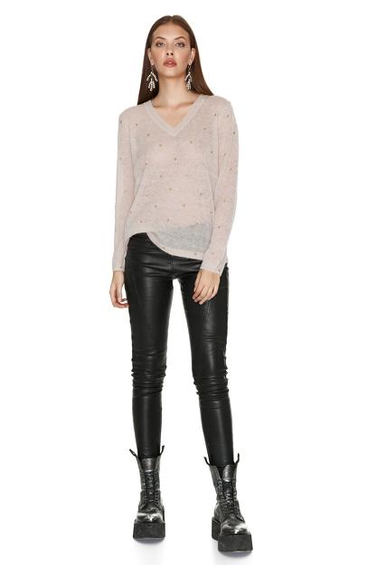Beige Star Sweater