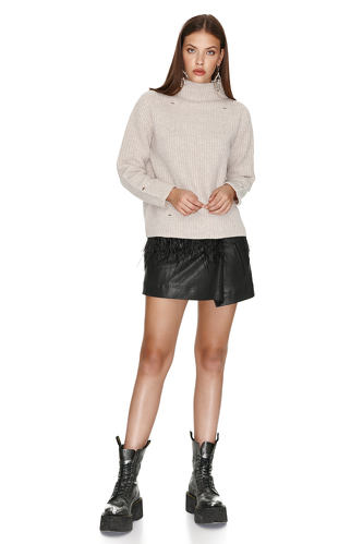 Turtleneck Cropped Sweater - PNK Casual