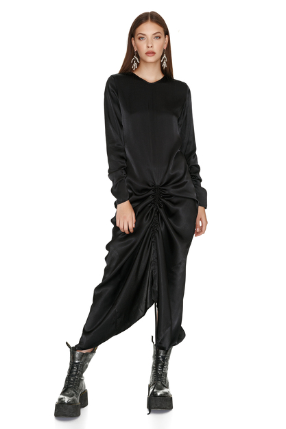 Black Viscose Maxi Dress