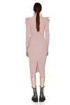 Slimming Effect Pink Midi Dress