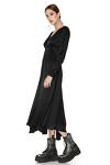 Black Mid-Length Fluid Dress
