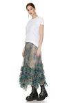 Printed Silk Chiffon Midi Skirt