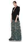 Printed Silk Maxi Skirt