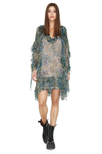 Printed Silk Mini Dress - PNK Casual