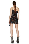 Wrap Multicolor Sequins Mini Dress