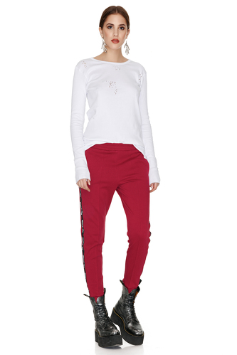 Red Track Pants - PNK Casual