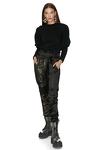 Black Cotton-Blend Sweatshirt
