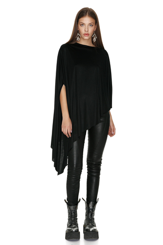 Black Top With Voluminous Sleeve - PNK Casual