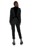 Black Wool-Velvet Blazer