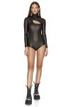 Black Glossy Bodysuit