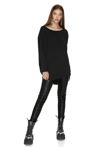 Black Oversized Cotton Top - PNK Casual