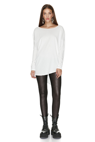 White Oversized Cotton Top - PNK Casual