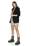 Black Viscose-Wool Blazer