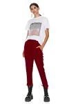 Red Velvet Track Pants