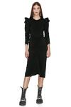 Slimming Effect Black Midi Dress