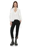Wool Casual Black Pants