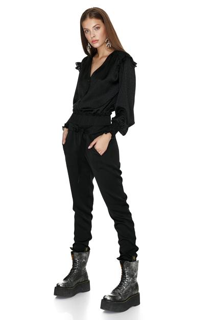 Black Ruffled Shirt