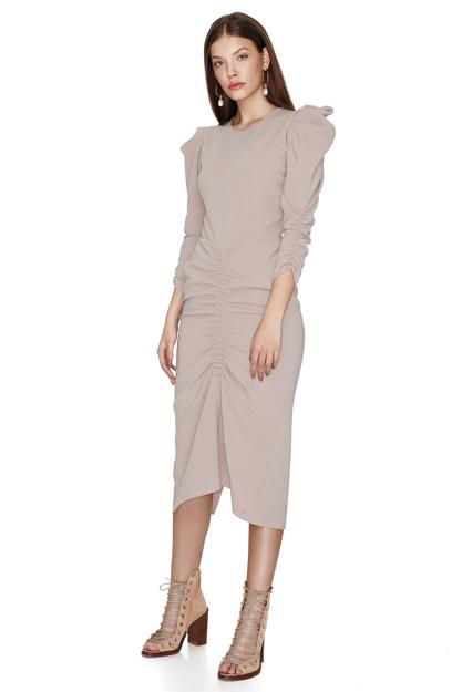 Slimming Effect Rose Midi Dress