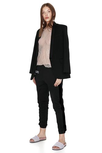 Printed Black Track Pants - PNK Casual