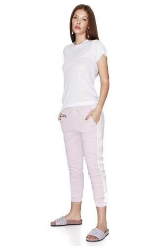 Printed Lavender Track Pants - PNK Casual