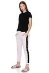 Lavender Cotton Pants With Velvet Side