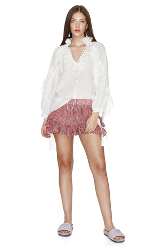 White Bohemian Cotton Lace Blouse - PNK Casual