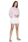 Lavender Hand-Distressed Sweatshirt