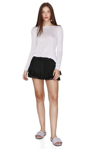 Jersey White Blouse - PNK Casual