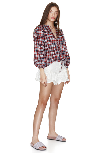 Cotton Chechered Blouse - PNK Casual