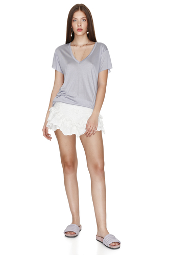 Grey Viscose T-shirt - PNK Casual