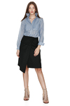 Cotton Striped Pleated Shirt