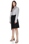 Ruffle Grey Cotton Shirt