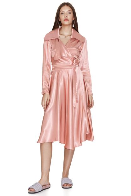 Rose Wrap Midi Dress