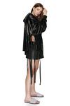 Black Sequin Cutout Hoodie