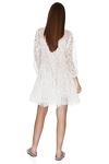 White Lace Flared Dress