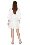 White Embroidered Cotton Mini Dress
