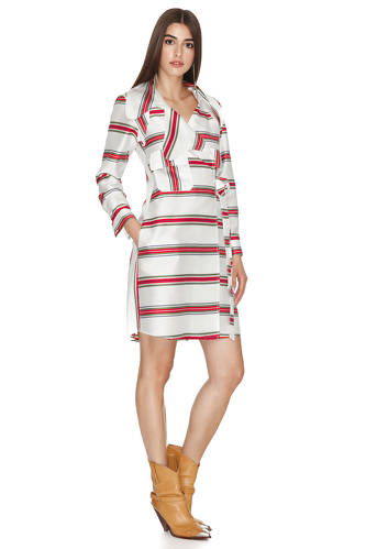 Striped Wrap Mini Dress - PNK Casual