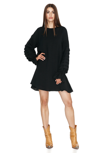 Black Pleated Dress - PNK Casual