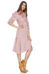 Rose Wrap-Effect Midi Dress
