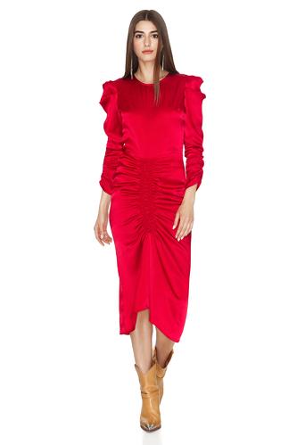 Red Light Viscose Midi Dress - PNK Casual