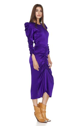 Purple Light Viscose Midi Dress - PNK Casual