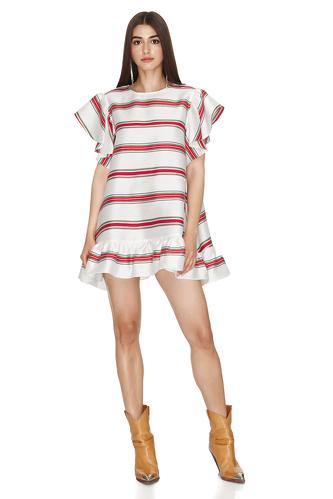 Striped Oversized Mini Dress - PNK Casual