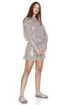 Backless Silver Metallic Mini Dress